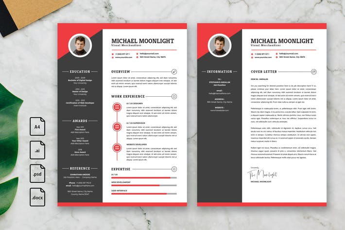 Thumbnail for Professional CV And Resume Template Moonlight