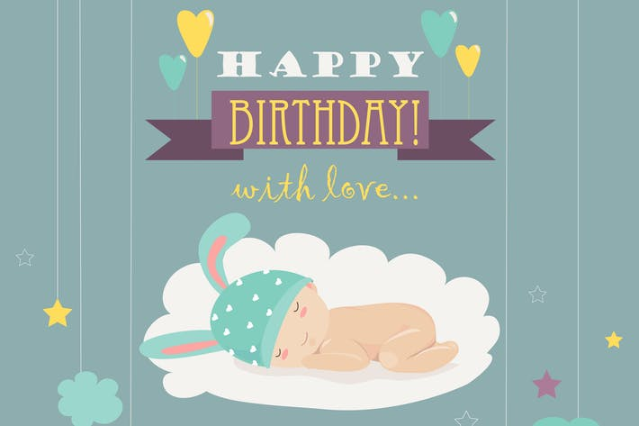 Cover Image For Baby theme. It s a boy card