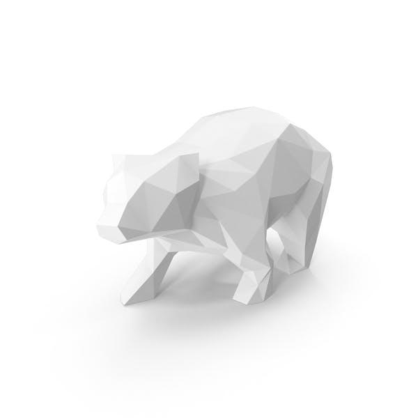 Thumbnail for White Low Poly Bear