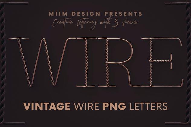 Vintage Wire - 3D Lettering
