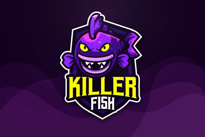 Thumbnail for Killer Fish - Mascot & Esport Logo
