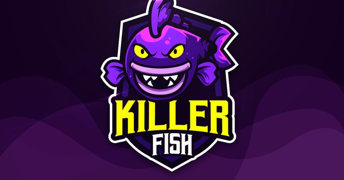 Download Killer Fish - Mascot & Esport Logo by aqrstudio