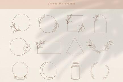 Elementos Logo, marcos y bordes