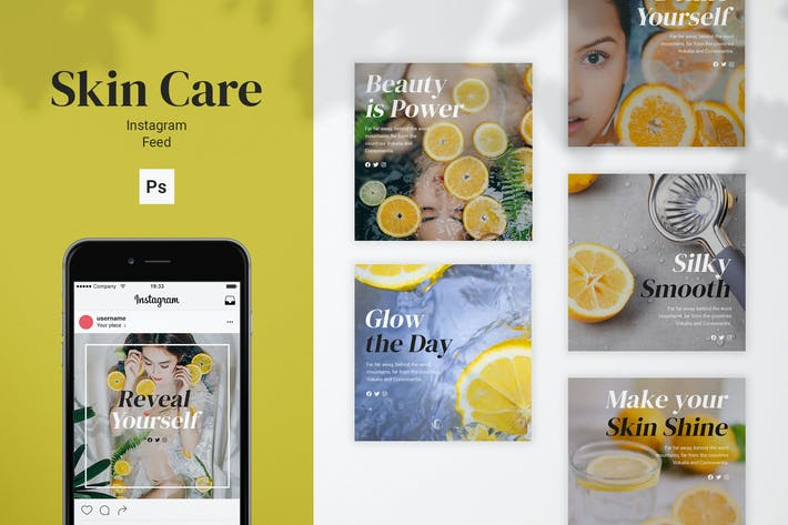 Thumbnail for Skin Care Instagram Feed Post Template