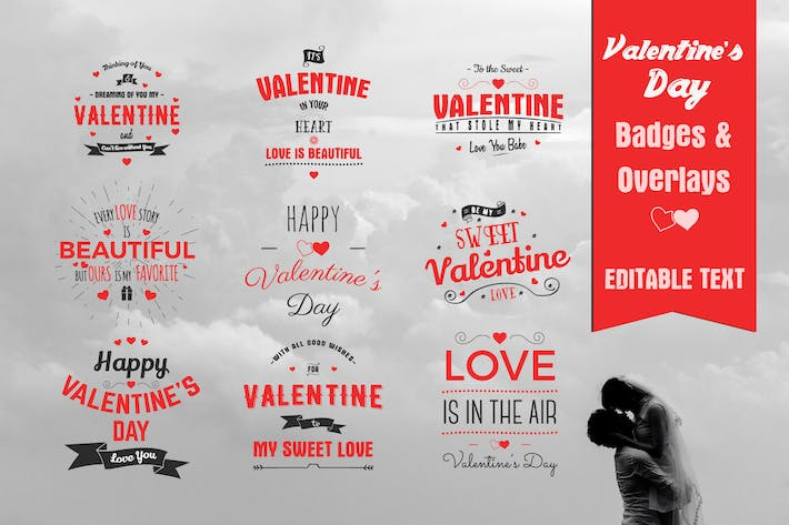 Thumbnail for Valentine's Day Badges & Overlays