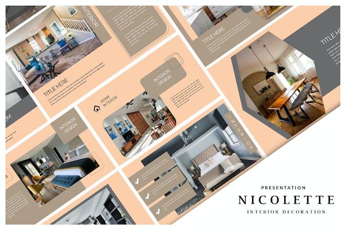 Thumbnail for Nicolette Innendekoration - Keynote Vorlage