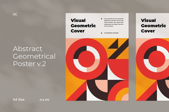 Thumbnail for Abstract Geometrical Poster v.2