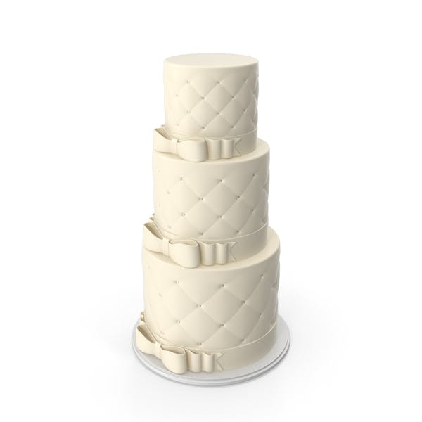 White Wedding Cake with Bows