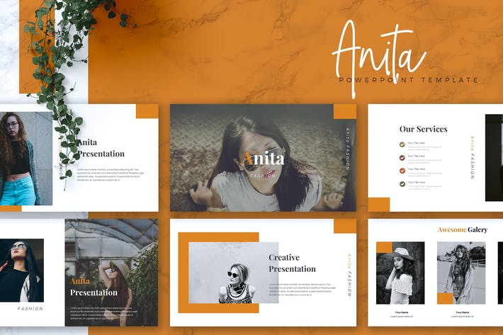 Cover Image For ANITA - Fashion Powerpoint Template