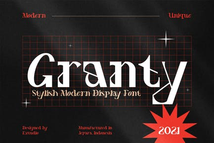 Decorative Font - Granty
