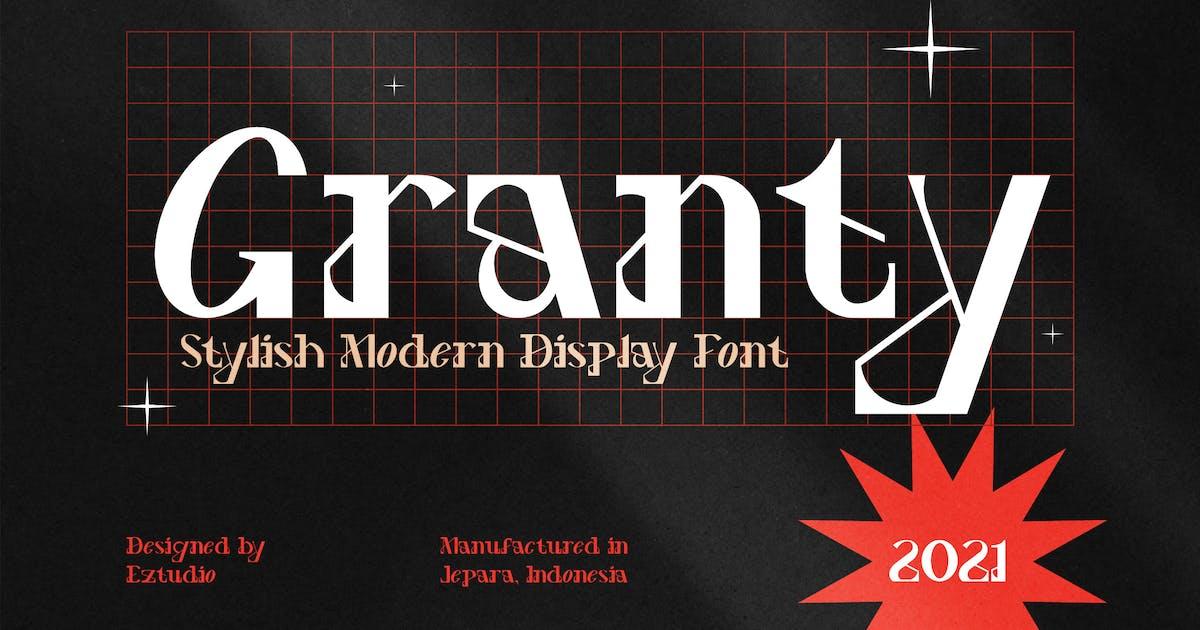 Download Decorative Font - Granty by eztudio