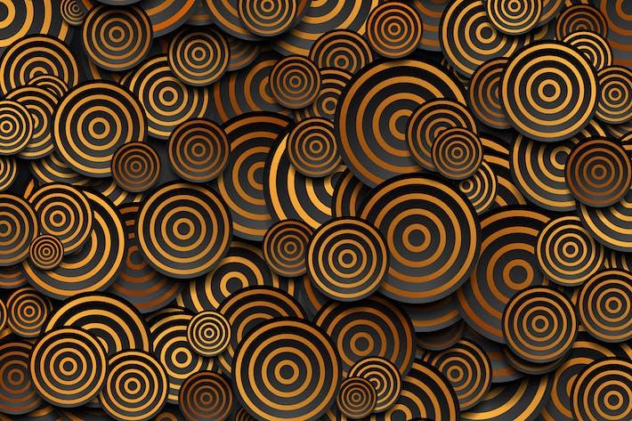 Thumbnail for Cercles noirs avec anneaux dorés