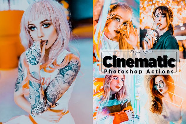Cinematic Neon Photoshop Actions