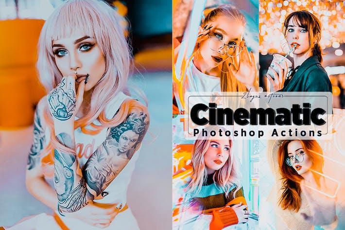 Thumbnail for Кинематографическая действия Neon Photoshop
