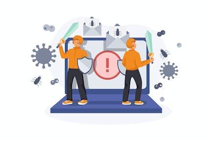 Virus Protection Illustration Concept
