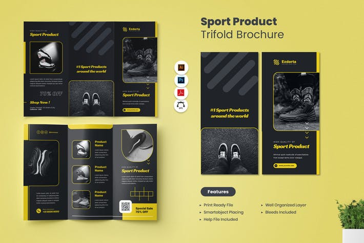 Sport Product Sale Trifold Brochure