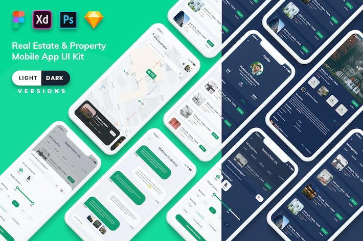 Thumbnail for Real Estate & Property MobileApp (Light & Dark)