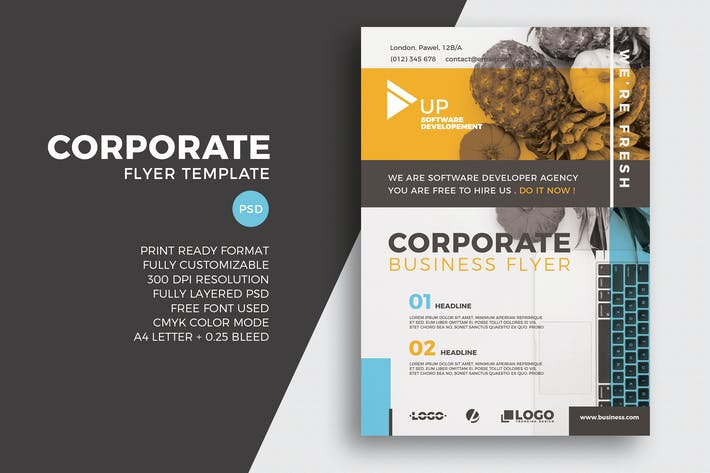 Cover Image For Corporate Business Flyer Template