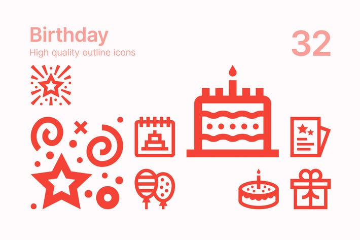Thumbnail for Birthday Icons