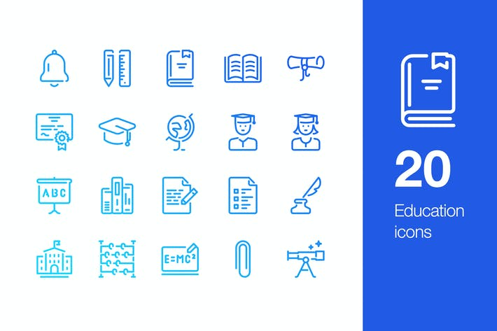 Thumbnail for 20 Education icons