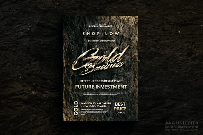 Thumbnail for Gold Business Flyer Design - A4 &  US Letter