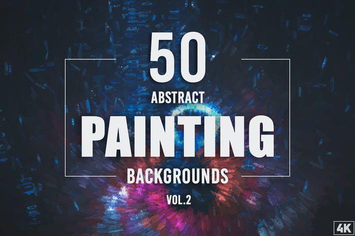50 Hintergründe der abstrakten Malerei - Band 2