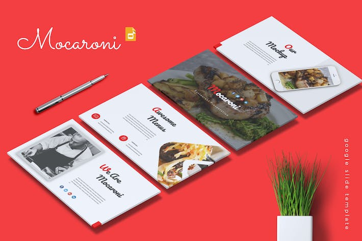 Thumbnail for MOCARONI -Restaurant & Food Google Slides Template