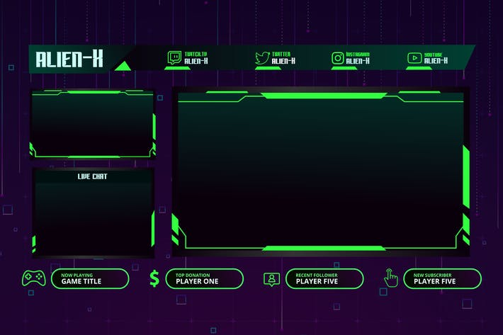 Thumbnail for AlienX - Twitch Overlay Template