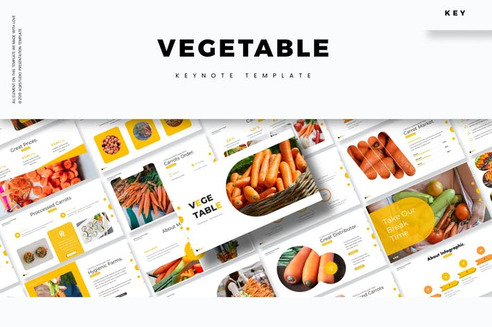 Thumbnail for Vegetable - Keynote Template