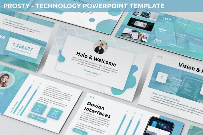 Thumbnail for Prosty - Technology Powerpoint Template