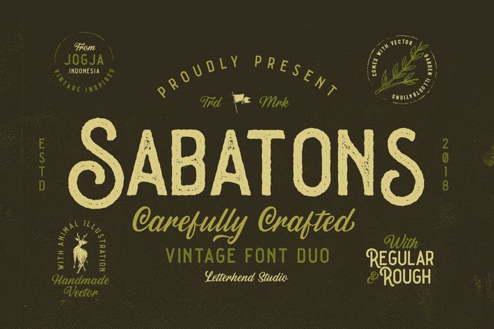 Thumbnail for Sabatons - Vintage Font Duo