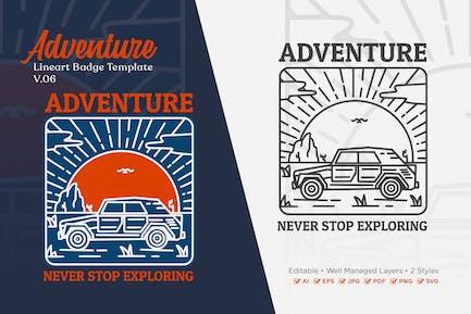 Adventure Monoline Logo Badge Template V.06