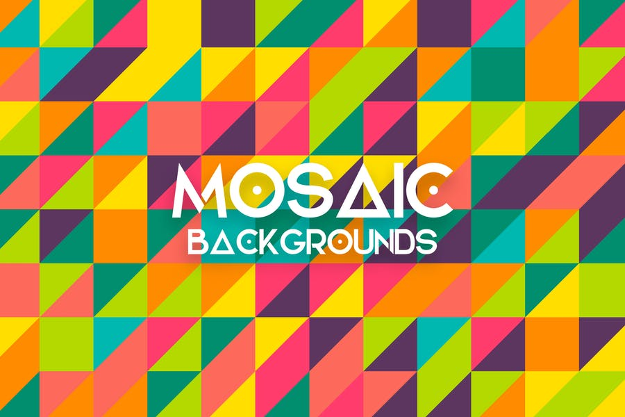 Mosaik-Vektor Hintergründe