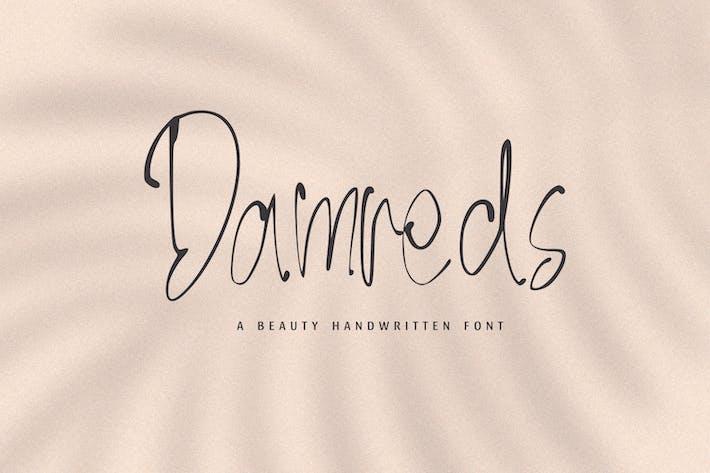 Thumbnail for Damreds - The Beauty Handwritten Font