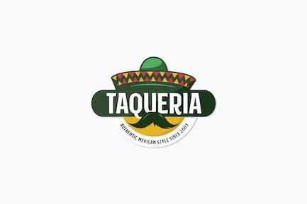 Mexican Charro Hat Logo Template