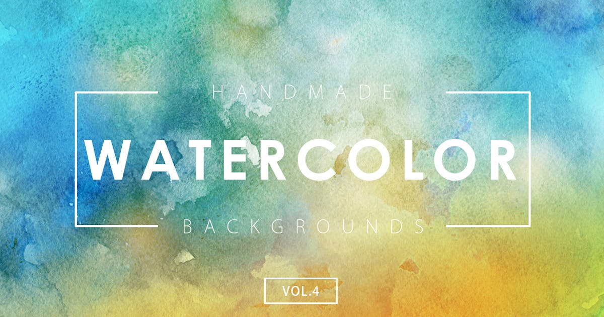 Download Handmade Watercolor Backgrounds Vol.4 by M-e-f