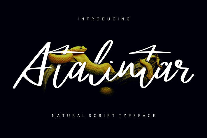 Thumbnail for Atalintar | Natural Script Typeface