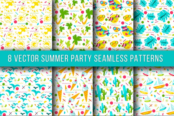 Thumbnail for Summer Party Seamless Patterns