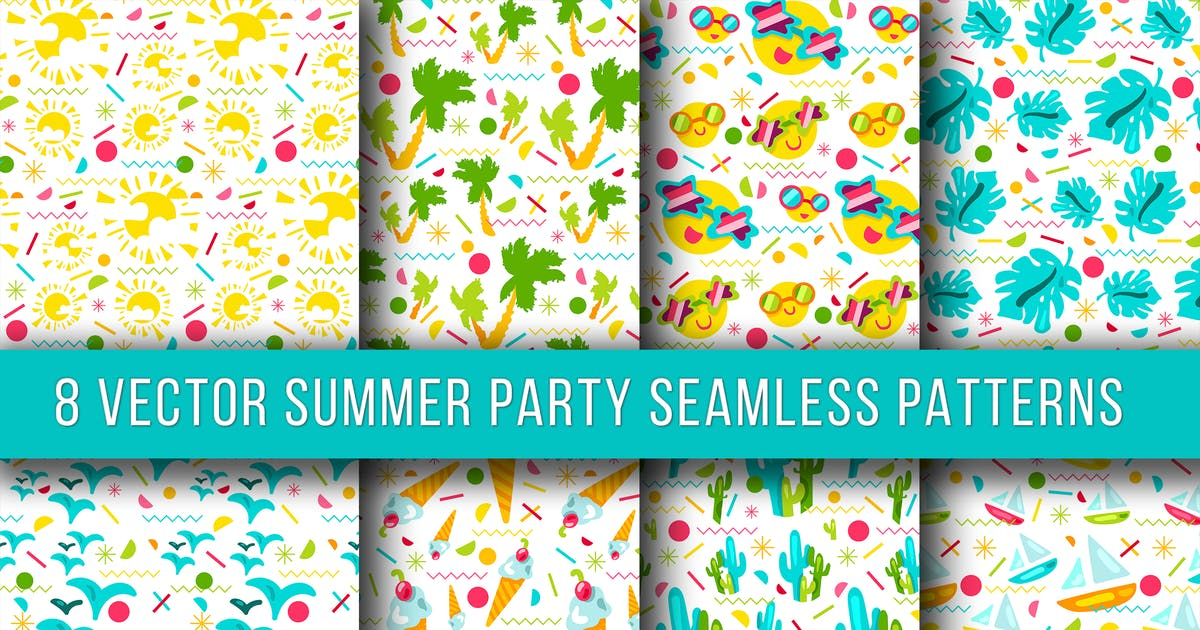 Download Summer Party Seamless Patterns by barsrsind