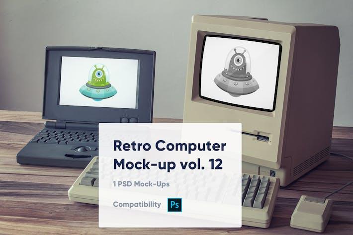 Thumbnail for 1 Retro Computer Mockup vol. 12
