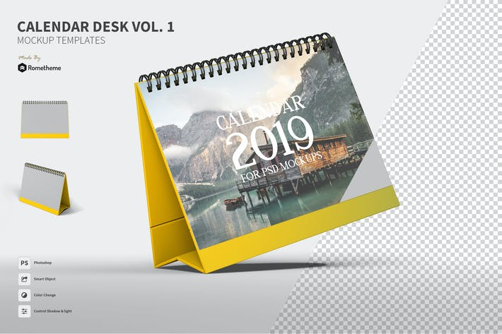 Thumbnail for Calendar Table Mockups vol.1