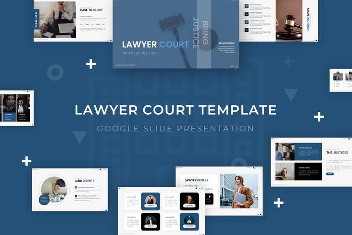 Thumbnail for Lawyer Court - Google Slide Template
