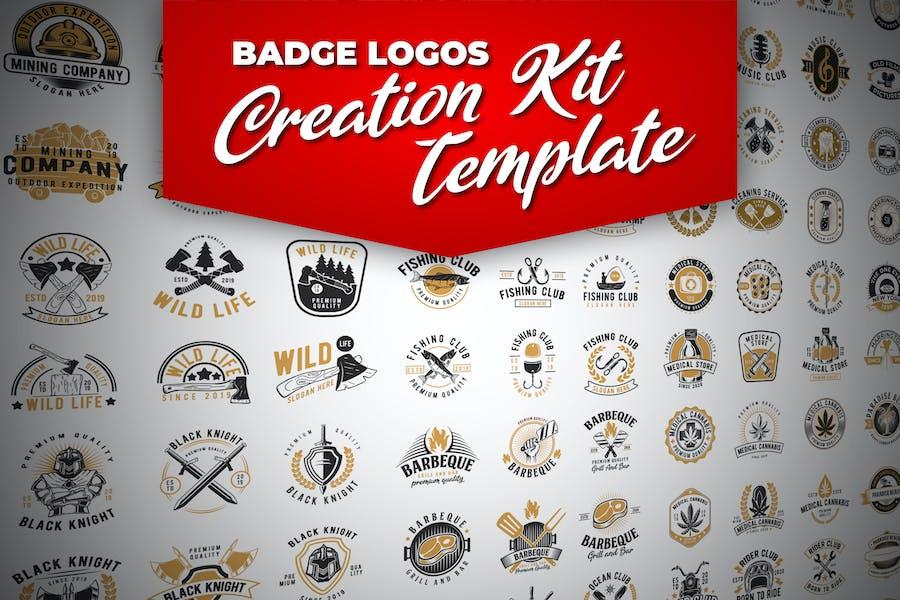 Kit de creación de Logo retro insignia