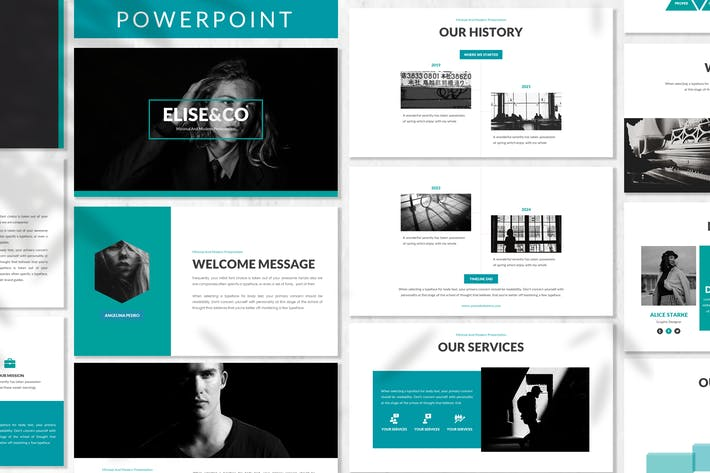 Cover Image For Elise - Fashion Powerpoint Template