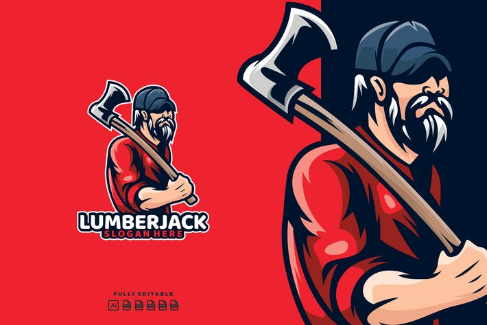 Thumbnail for Lumberjack Timber Logo