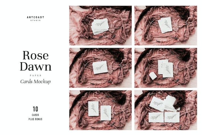 Thumbnail for Rose Dawn Cards Mockup