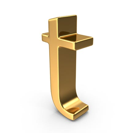 Gold Small Letter T