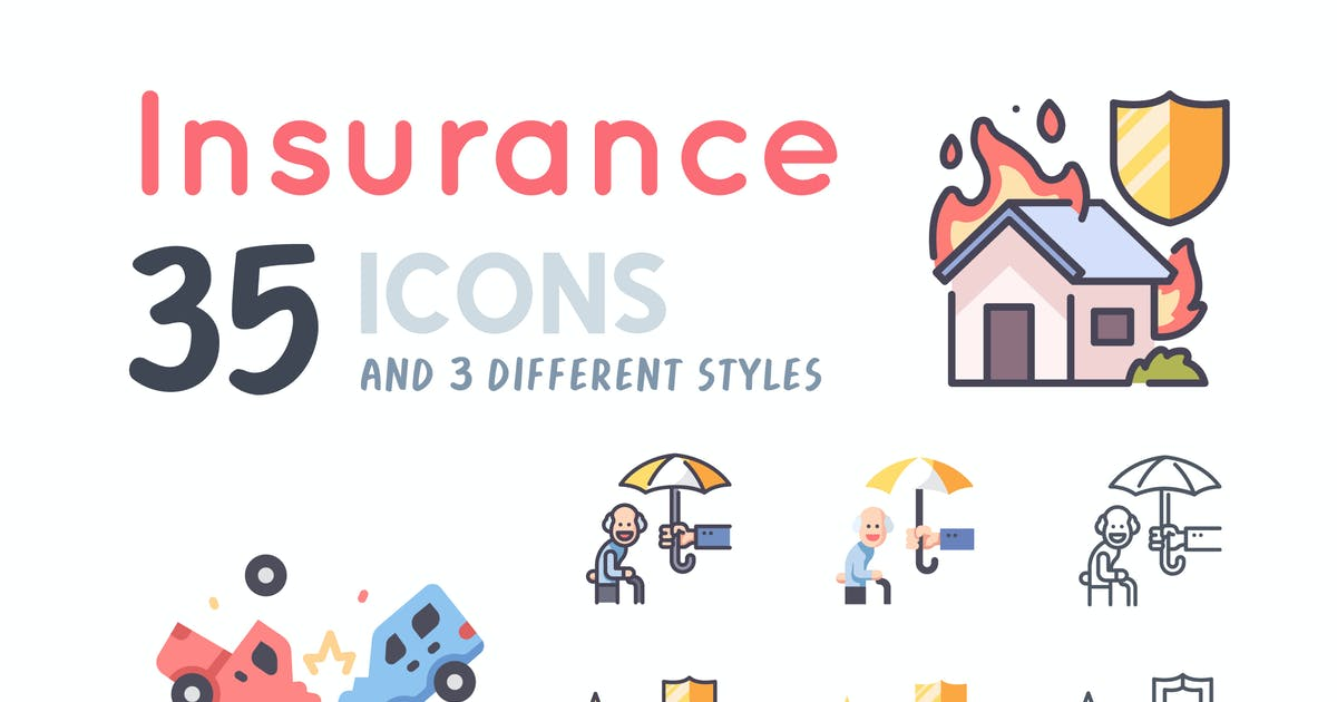 Download 35 Insurance icon set by Maxicons