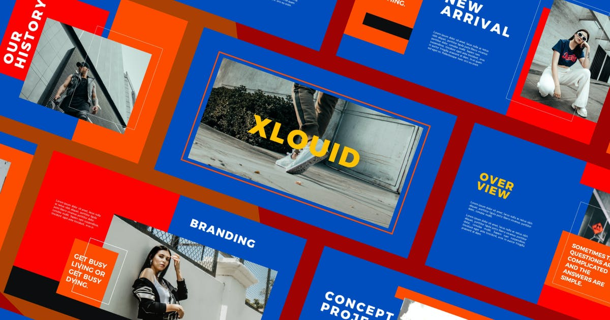 Download XLOUID - Presentation Template by axelartstudio