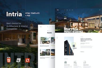 Intria - Architecture and Interior HTML Template